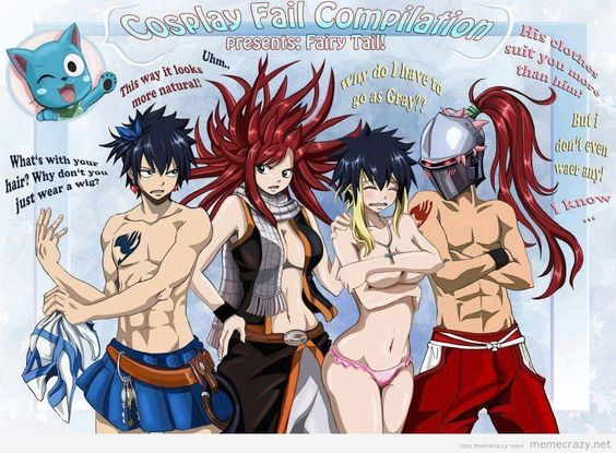 Fairy tail jpg black and white stock Fairy Tail, Gray as Lucy | Erza as Natsu | Lucy as Grey | Natsu as ... jpg black and white stock