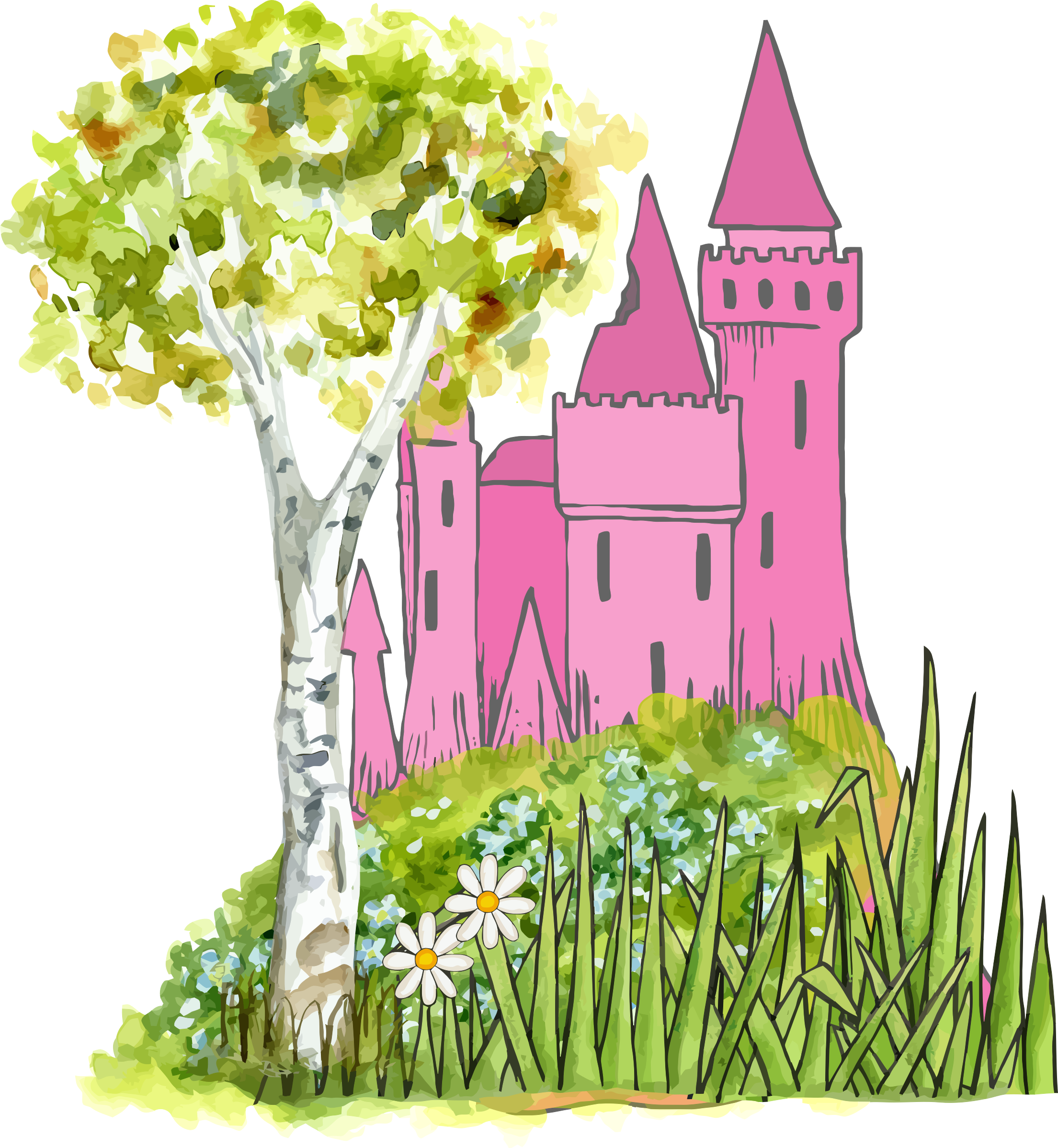 collection of castle. Fairy tale book clipart