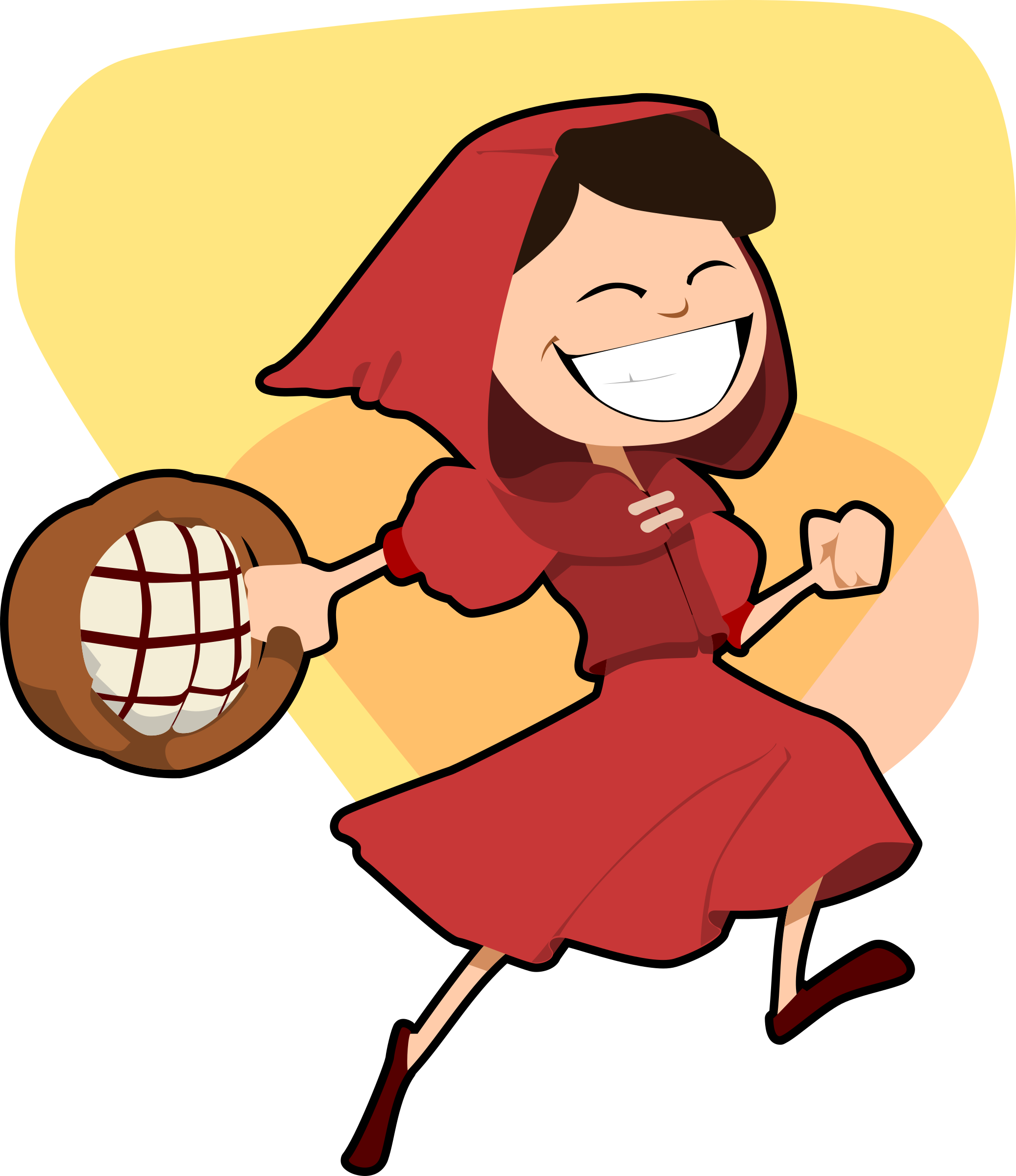 Little red riding hood. Fairy tale book clipart