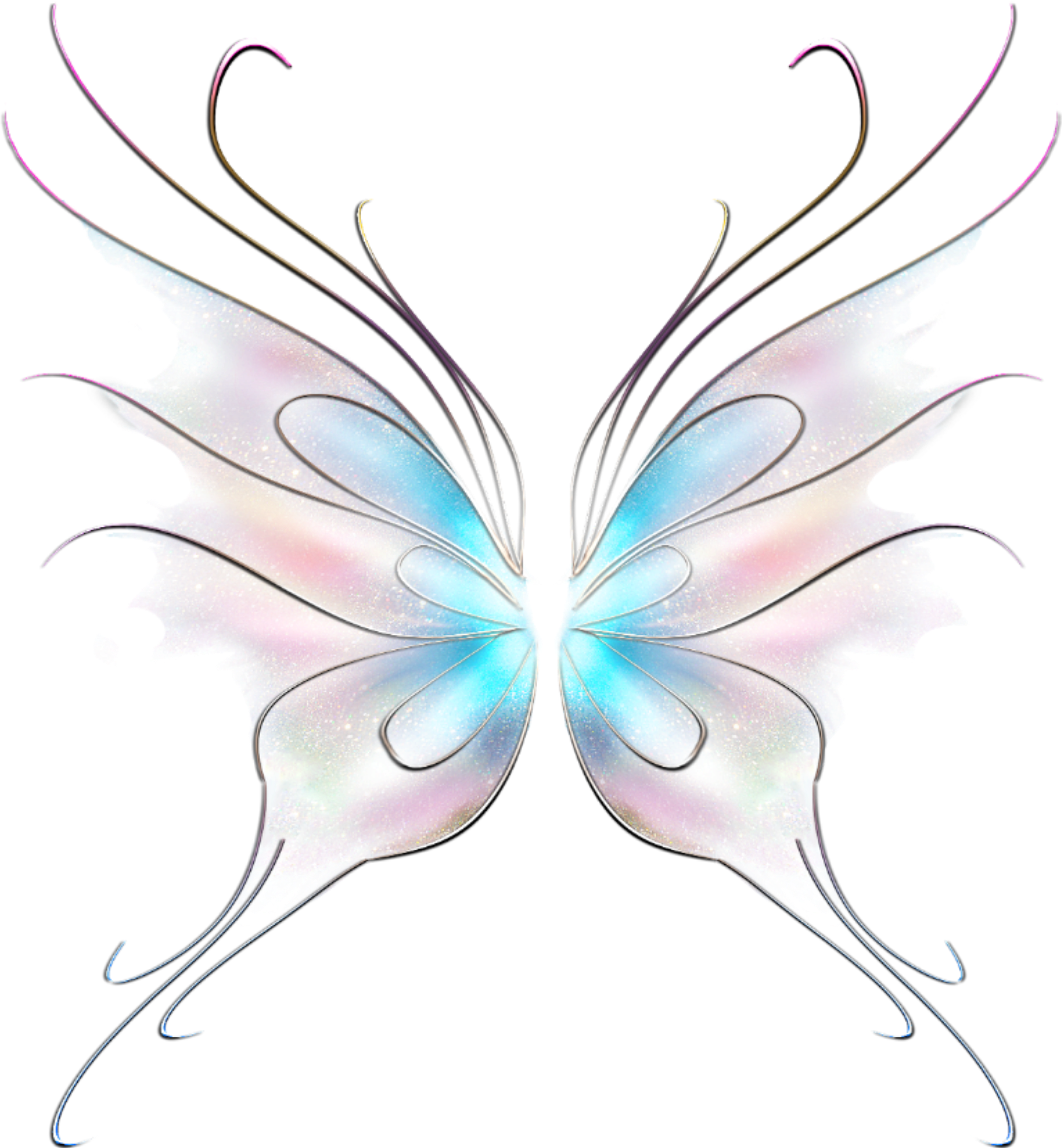 Fairy wing clipart library Art Butterfly Fairy Wings Stickers - Swallowtail Butterfly Clipart ... library