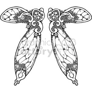 Fairy wing clipart png black and white library Fairy-Wing-Double-3 clipart. Royalty-free clipart # 380173 png black and white library