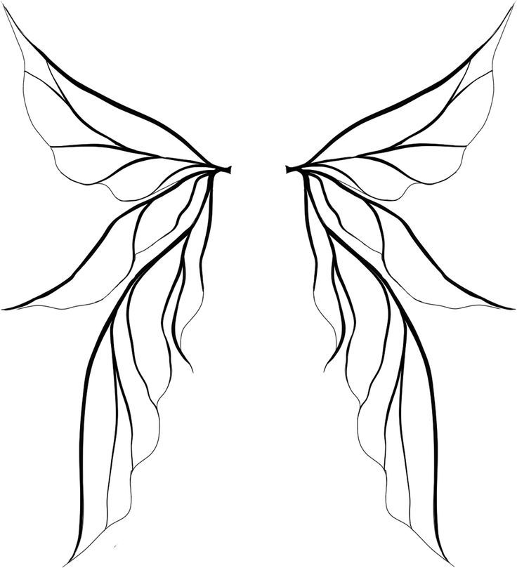 Fairy wings clipart free clipart freeuse download Tinkerbell Wings Drawing | Clipart Panda - Free Clipart Images ... clipart freeuse download