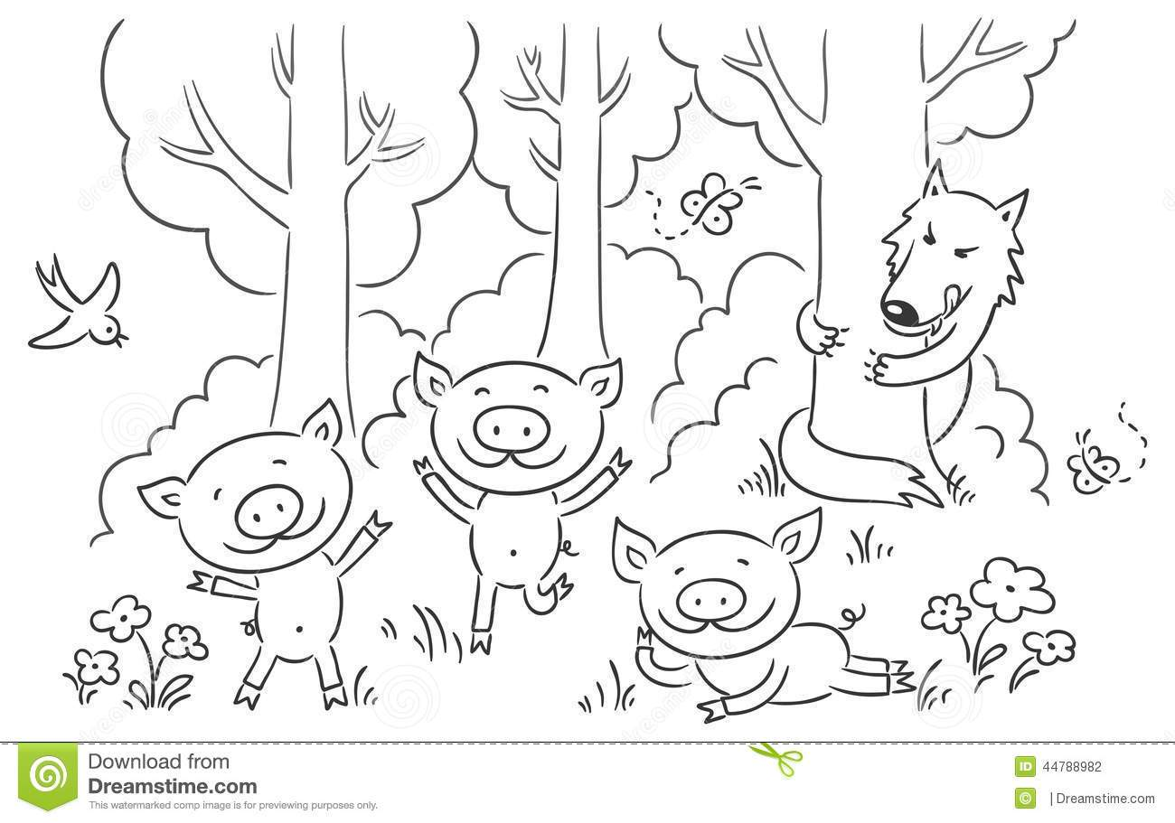 The three little pigs clipart black and white clip art stock Fairy tale clipart black and white 5 » Clipart Portal clip art stock