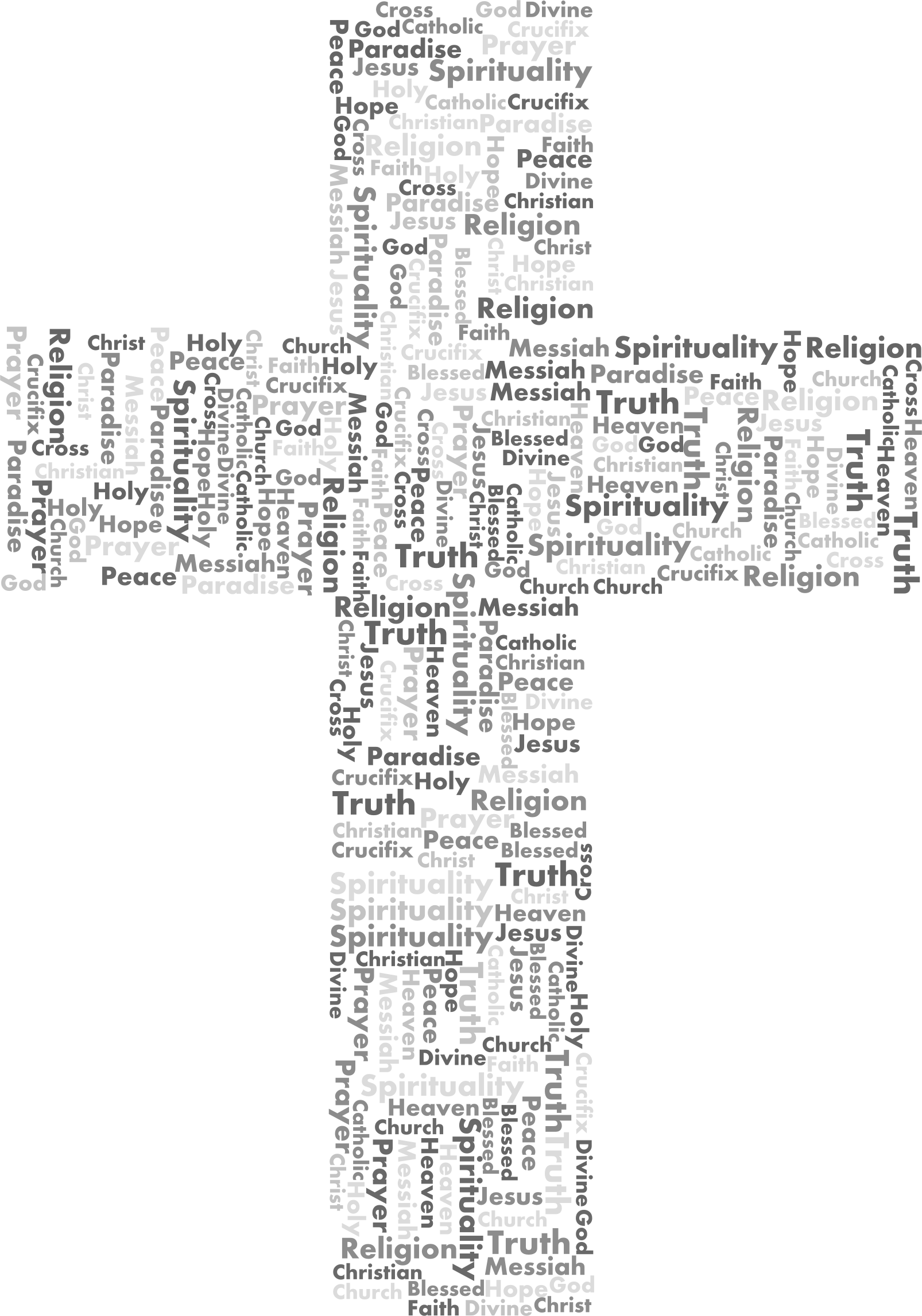 Faith cross clipart banner black and white Clipart - Jesus Cross Word Cloud Grayscale banner black and white