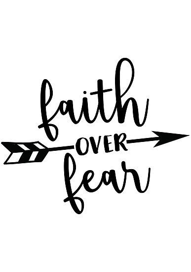 Faith over fear clipart banner freeuse \'Faith over fear\' Photographic Print by colorbyte banner freeuse