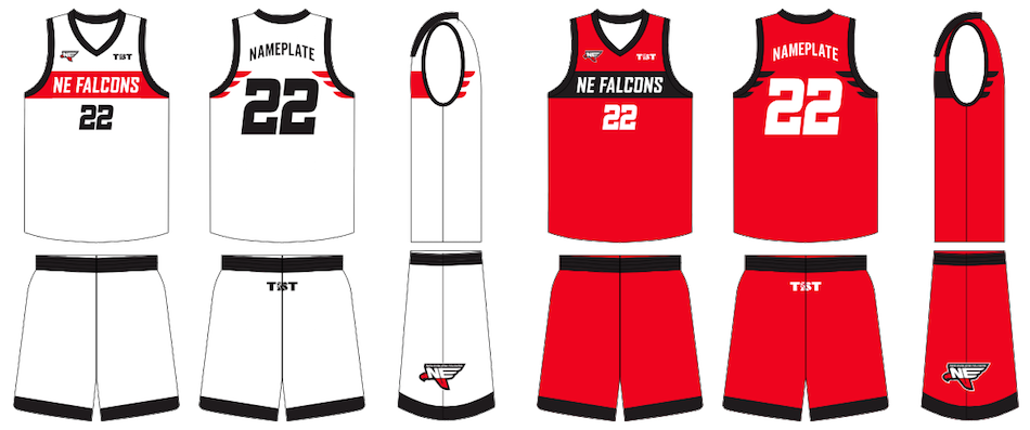 Falcon basketball clipart vector free download New England Falcons Uniforms Unveiled | The Basketball Tournament vector free download