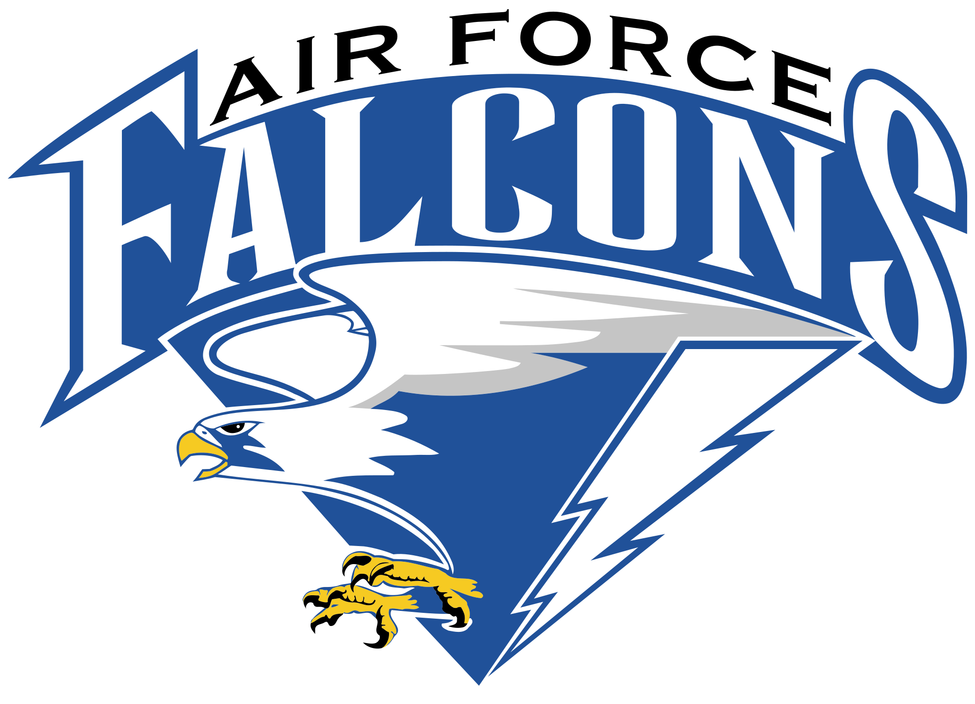 Football garland clipart jpg stock File:Air Force Falcons.svg - Wikimedia Commons jpg stock