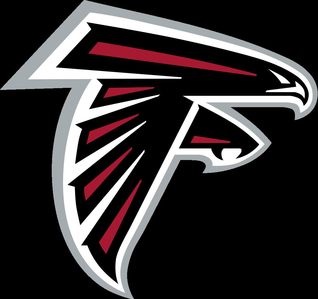 Falcon football player clipart black and white image freeuse download Atlanta Falcons Logo transparent PNG - StickPNG image freeuse download