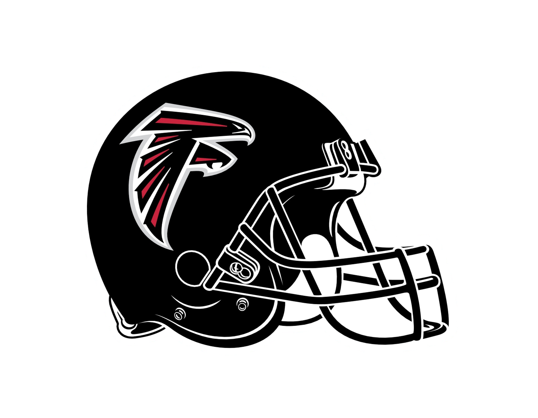 Falcons football helmet clipart png library library Atlanta Falcons Logo PNG Transparent & SVG Vector - Freebie Supply png library library