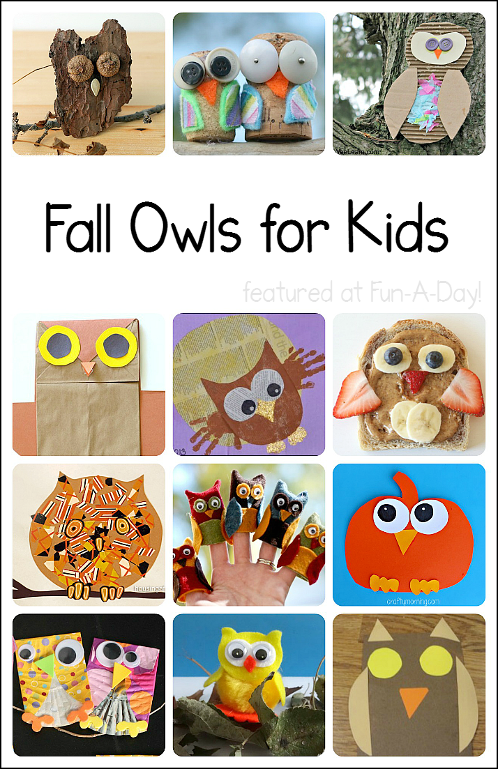 Fall activities for kids clipart image freeuse stock Fall Owl Crafts and Activities for Kids image freeuse stock