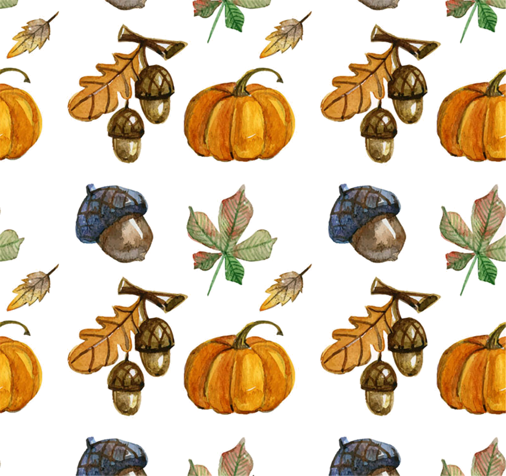 Fall background pumpkin clipart clip Autumn Watercolor painting Season - Hand-painted Pumpkin background ... clip
