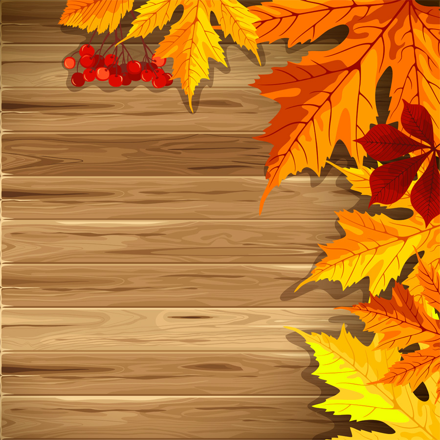 Fall backgrounds clipart graphic royalty free Wooden Fall Background with Leaves | Gallery Yopriceville - High ... graphic royalty free