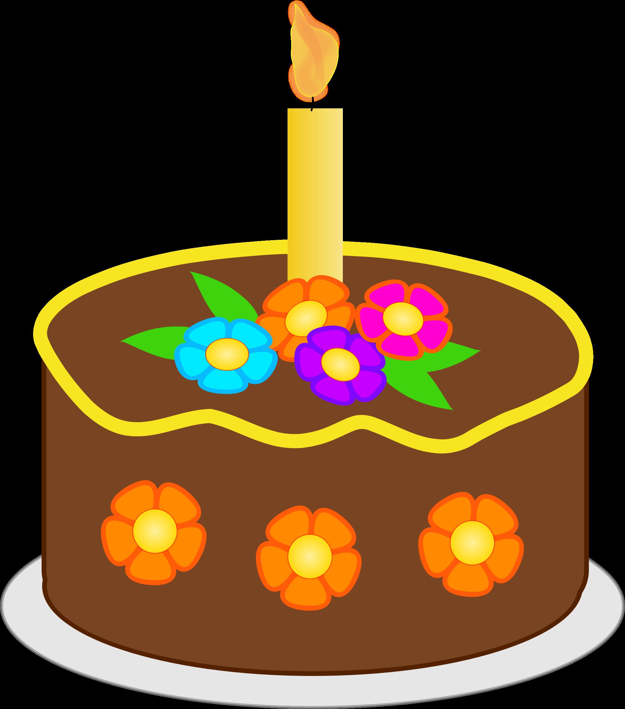 Fall birthday cake clipart clip art royalty free Clipart - Chocolate Birthday Cake(brown) clip art royalty free