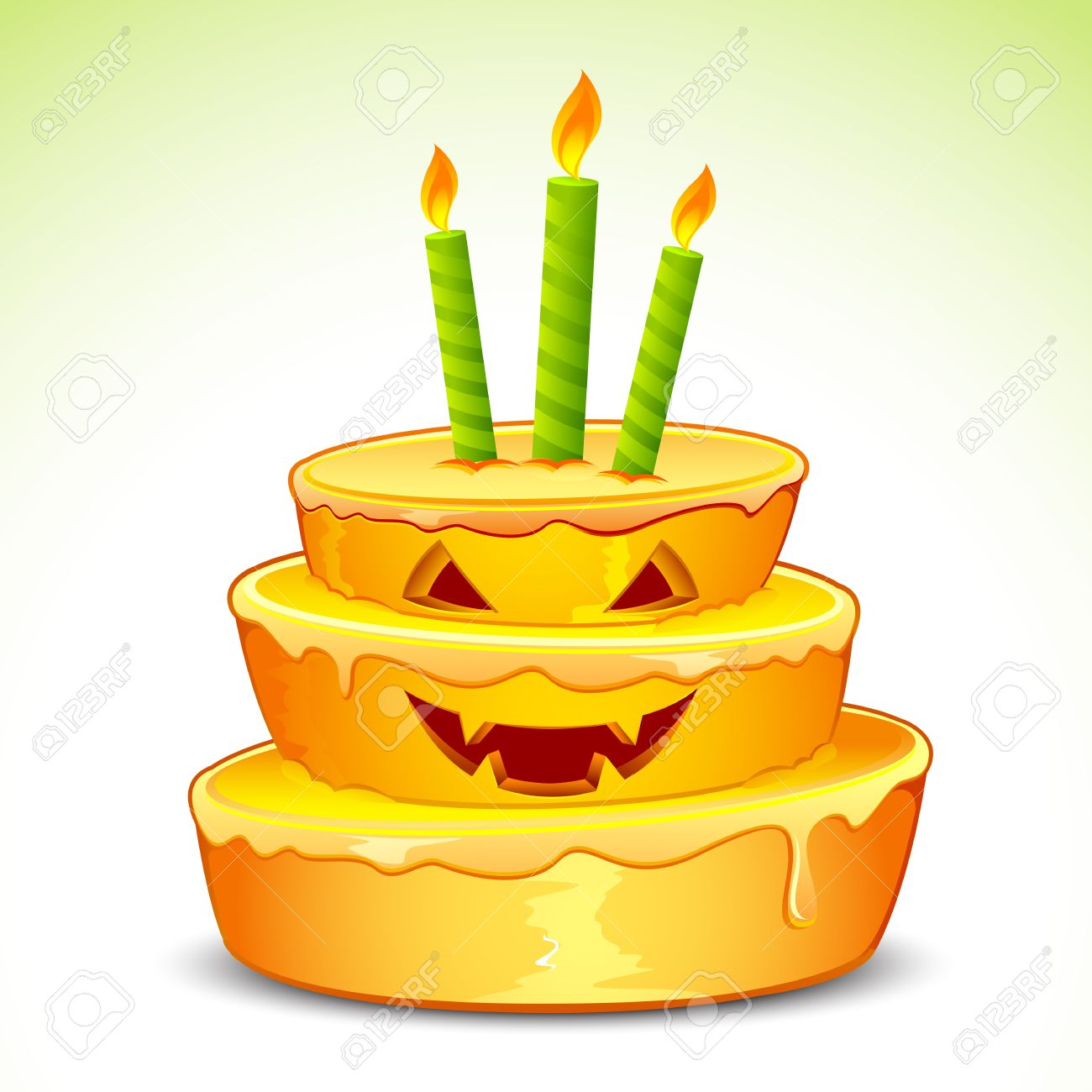 Fall birthday cake clipart image black and white Halloween birthday cake clipart - ClipartFest image black and white