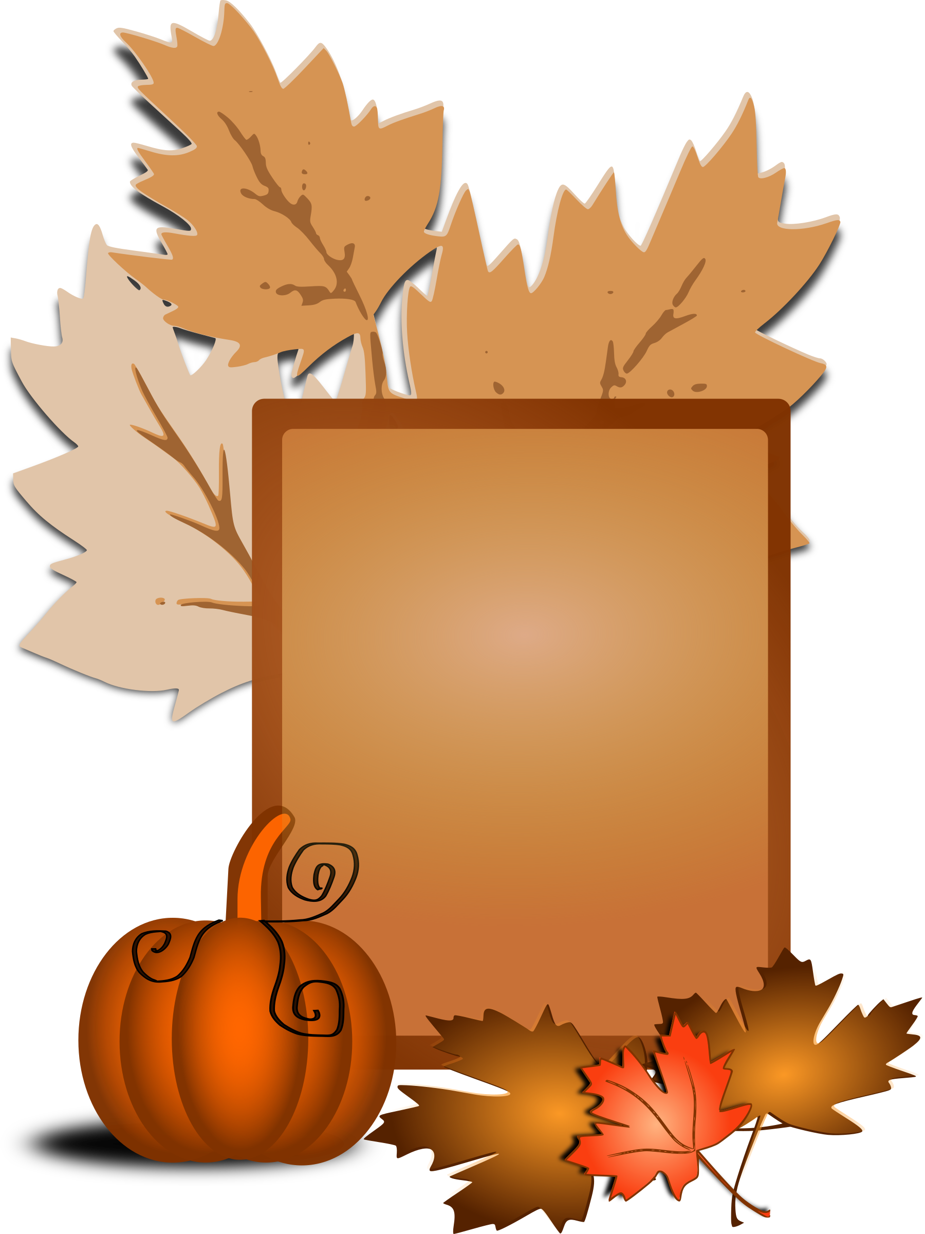 Fall leaves and pumpkin clipart clip art free download Clipart - Fall clip art clip art free download