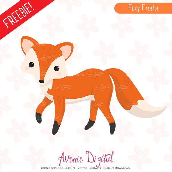 Fall clipart printables graphic free Free Cute Fox Clipart Scrapbook printables, Autumn clip art set ... graphic free