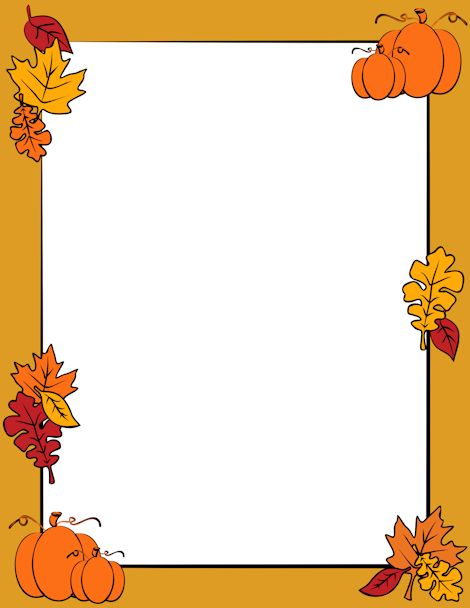 Fall clipart printables clip art library Clip Art of an Autumn Leaf Border | Clip art, Autumn leaves and Autumn clip art library