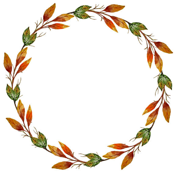 Fall clipart wreath graphic freeuse library Watercolor Wreath Clipart, Autumn Clipart, Autumn Wreath, Fall Clip ... graphic freeuse library