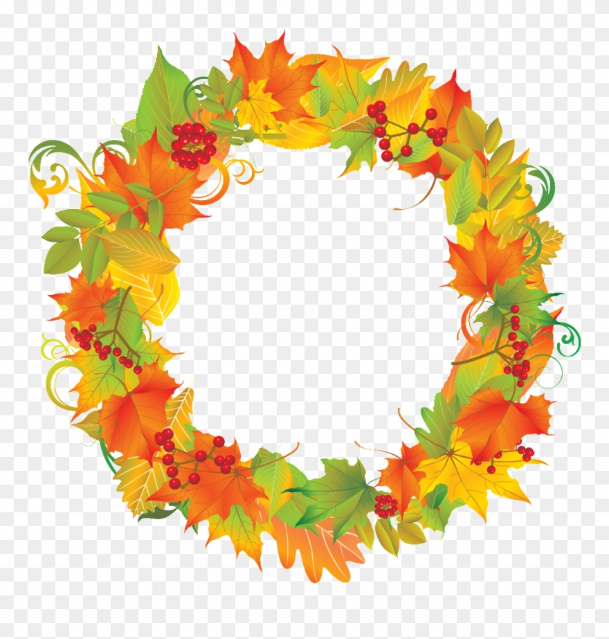 Fall clipart wreath jpg library library Fall Clip Art, Autumn Wreaths, Subway Art, Clipart - Fall Wreath ... jpg library library