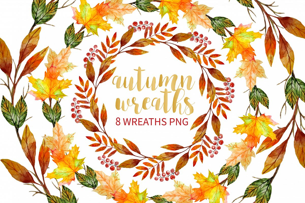 Wreath picture season clipart banner library library Autumn Wreath Clipart banner library library