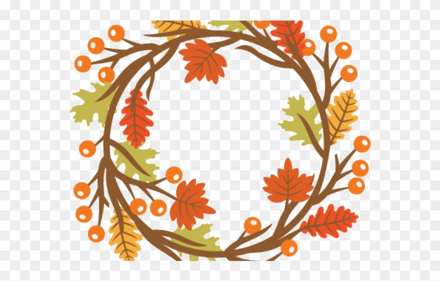 Free fall wreath clipart picture library stock Fall Clipart Wreath - Autumn Wreath Clipart Free - Png Download ... picture library stock