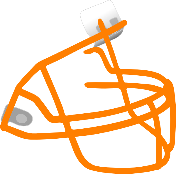 Football face clipart graphic black and white download Football Face Mask Clip Art at Clker.com - vector clip art online ... graphic black and white download