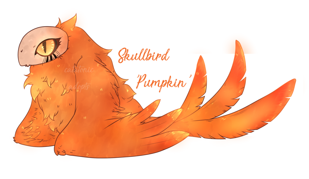 Fall fox and pumpkin clipart clipart black and white library Skullbird Halloween Special: Pumpkin [CLOSED] by CATATONIC-Adopts on ... clipart black and white library
