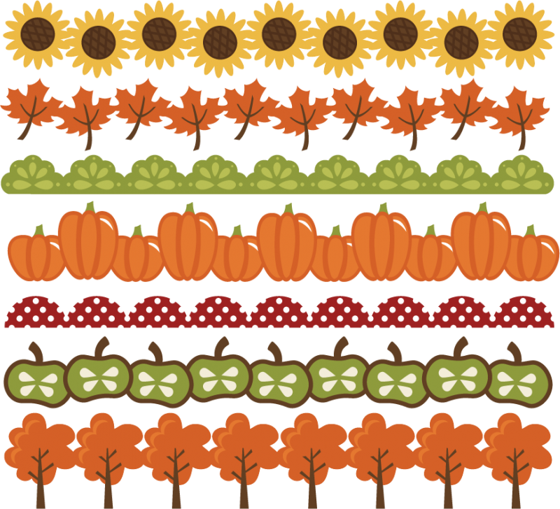 Halloween clipart borders png royalty free download Fall Borders SVG cut files autumn svg files pumpkin border leaf ... png royalty free download