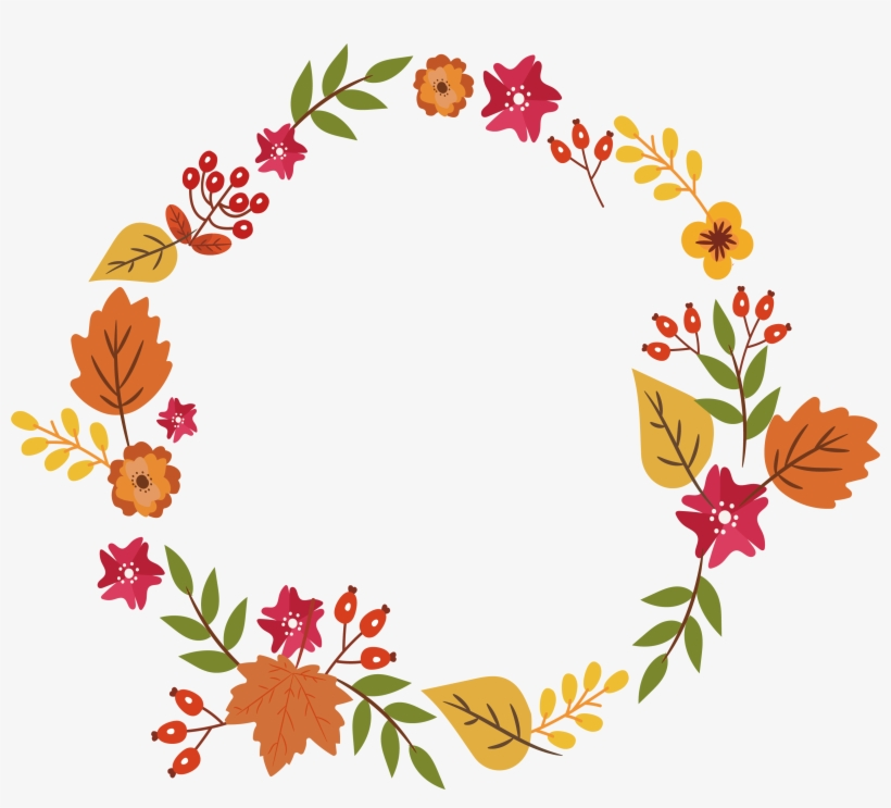 Fall garland clipart image freeuse download Graphic Download Floral Design Leaf Colorful Autumn - Fall Leaves ... image freeuse download