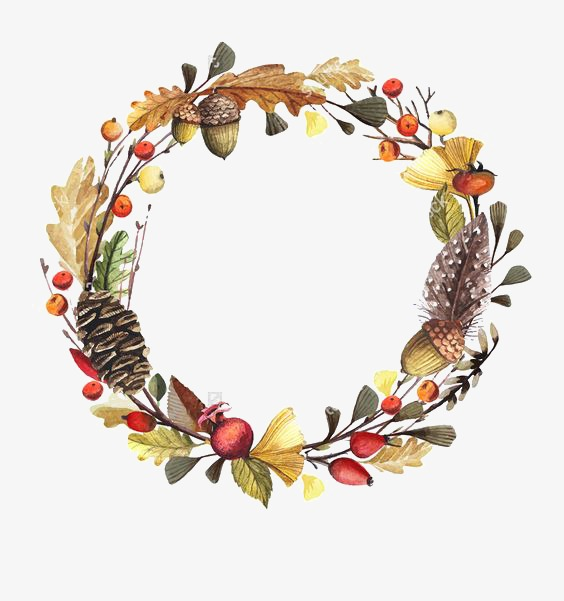 Fall garland clipart png stock Autumn Wreath Png & Free Autumn Wreath.png Transparent Images #9941 ... png stock