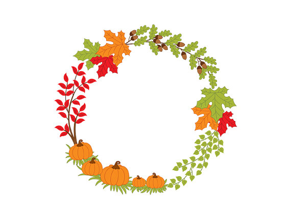 Fall garland clipart clip art library Fall Wreath Clipart   Free download best Fall Wreath Clipart on ... clip art library