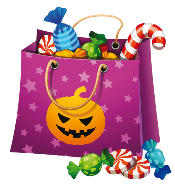 Fall halloween clipart vector free library Halloween PNG Candy Bag Clipart   Halloween Clip Art   Pinterest ... vector free library