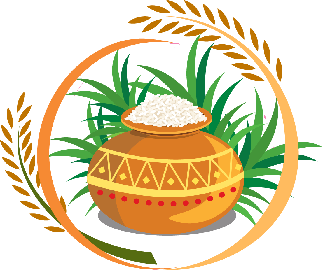 Thai pongal festival clip. Fall harvest thanksgiving photo clipart