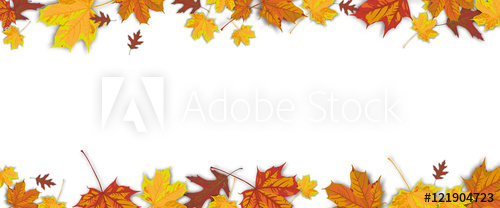 Fall header clipart clip free download Autumn Foliage White Centre Header - Buy this stock vector and ... clip free download