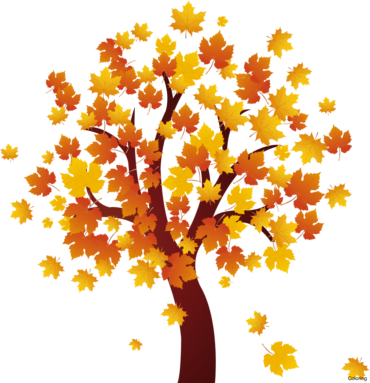 Fall tree clipart free banner royalty free stock Fall Clipart transparent background - Free Clipart on ... banner royalty free stock
