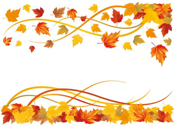 Fall leaves clipart vector banner library free vector 6 autumn maple leaf border vector | Art Journaling ... banner library