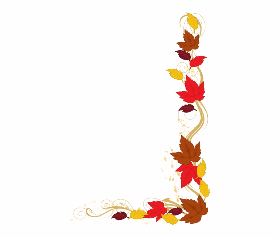 Autumn leaves clipart border svg freeuse Clipart Borders Autumn - Fall Leaves Clipart Border, Transparent Png ... svg freeuse