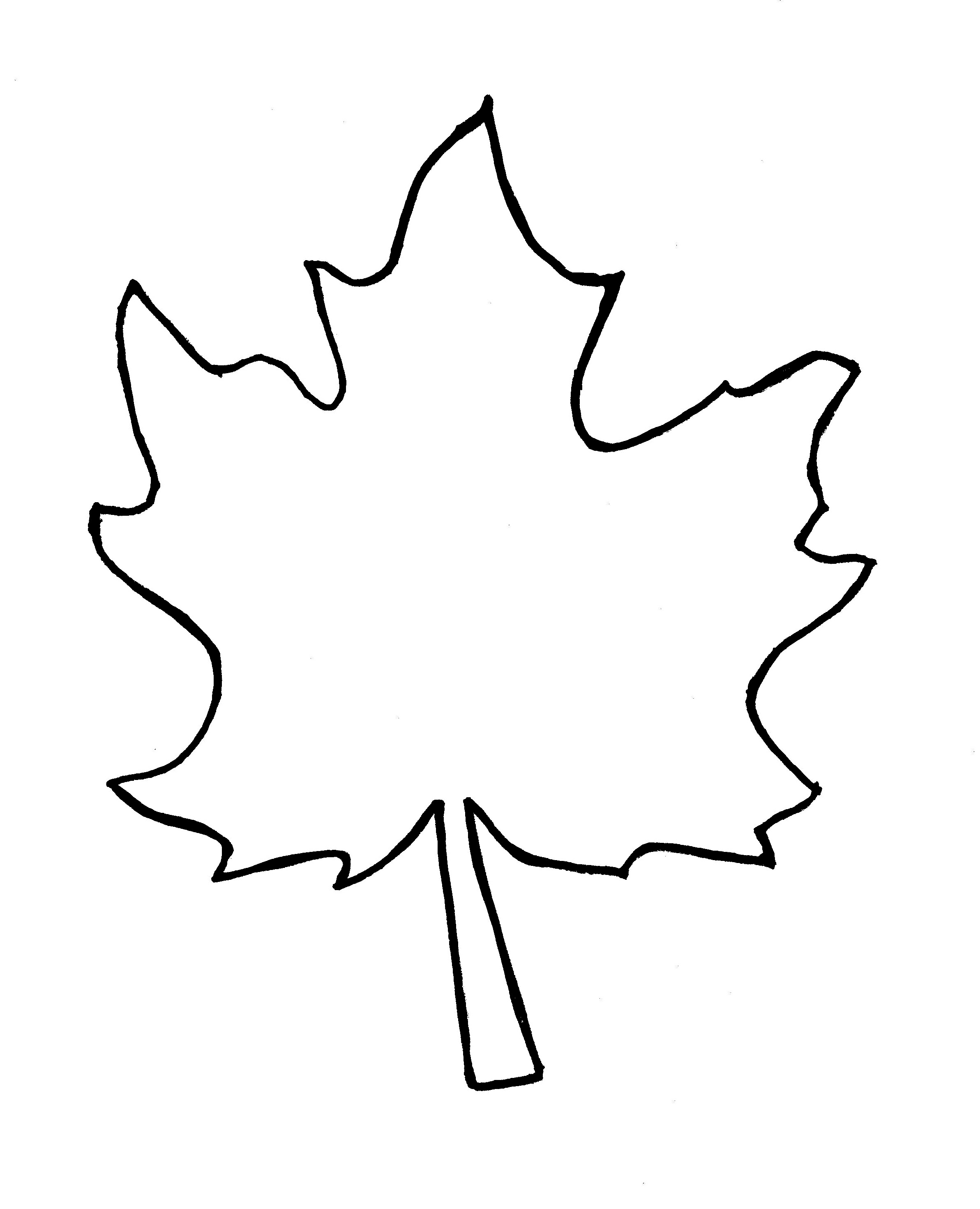Autumn oak leaf black and white clipart banner royalty free stock Free Autumn Leaf Outline, Download Free Clip Art, Free Clip Art on ... banner royalty free stock
