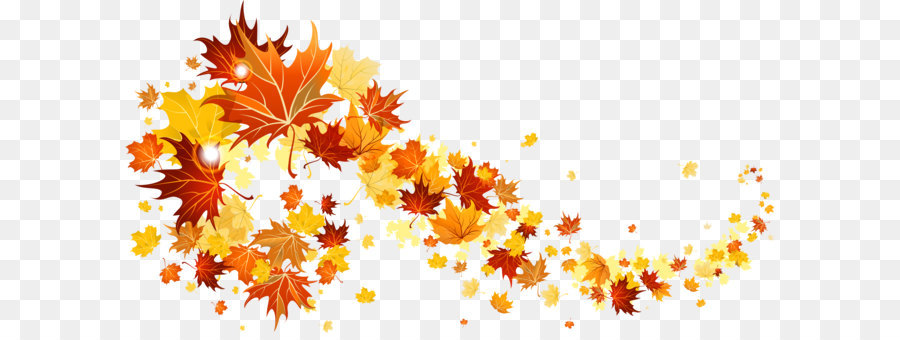 Fall leaves clipart png clip Autumn Pattern Background png download - 3742*1915 - Free ... clip