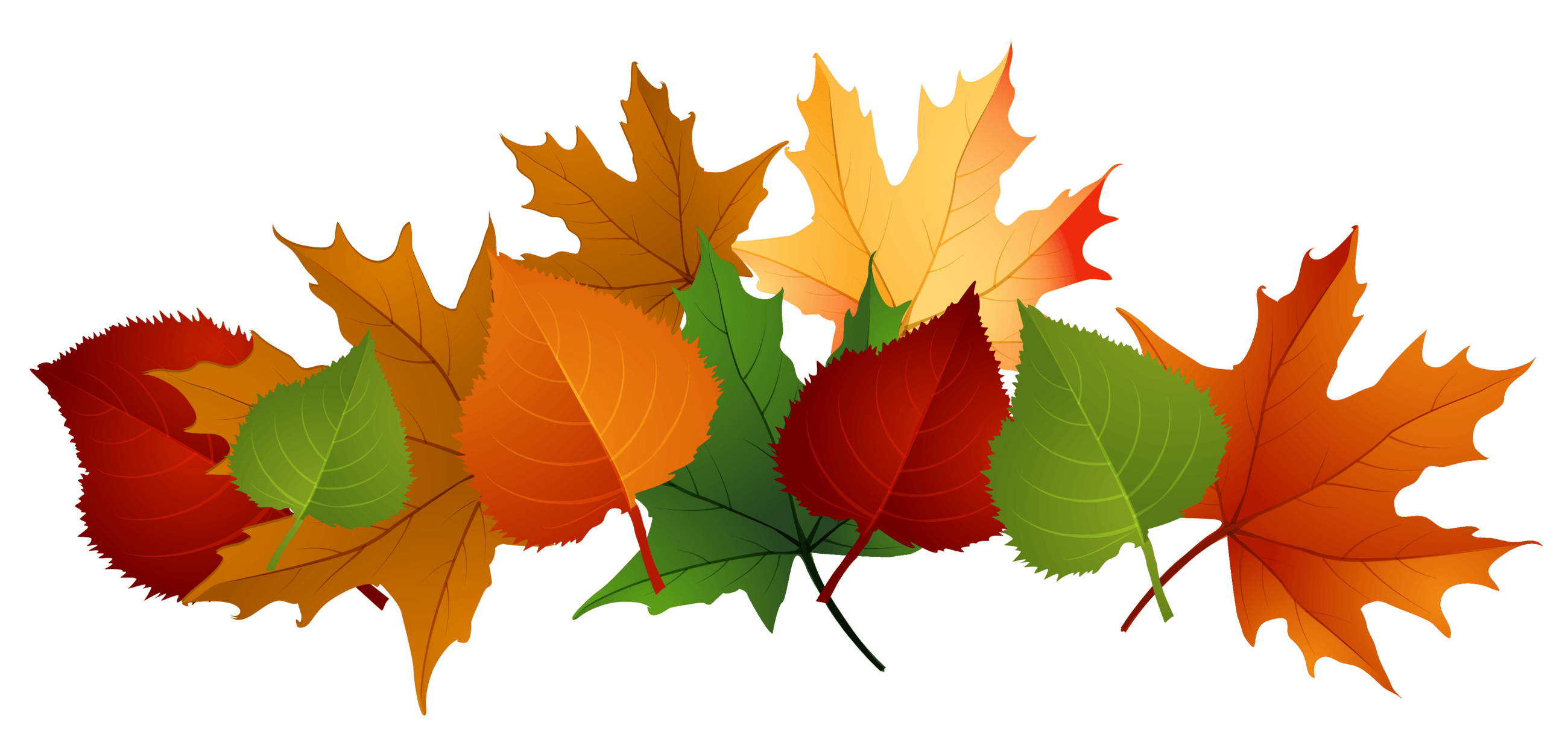 Fall leaves tree clipart. Pile of drawing at