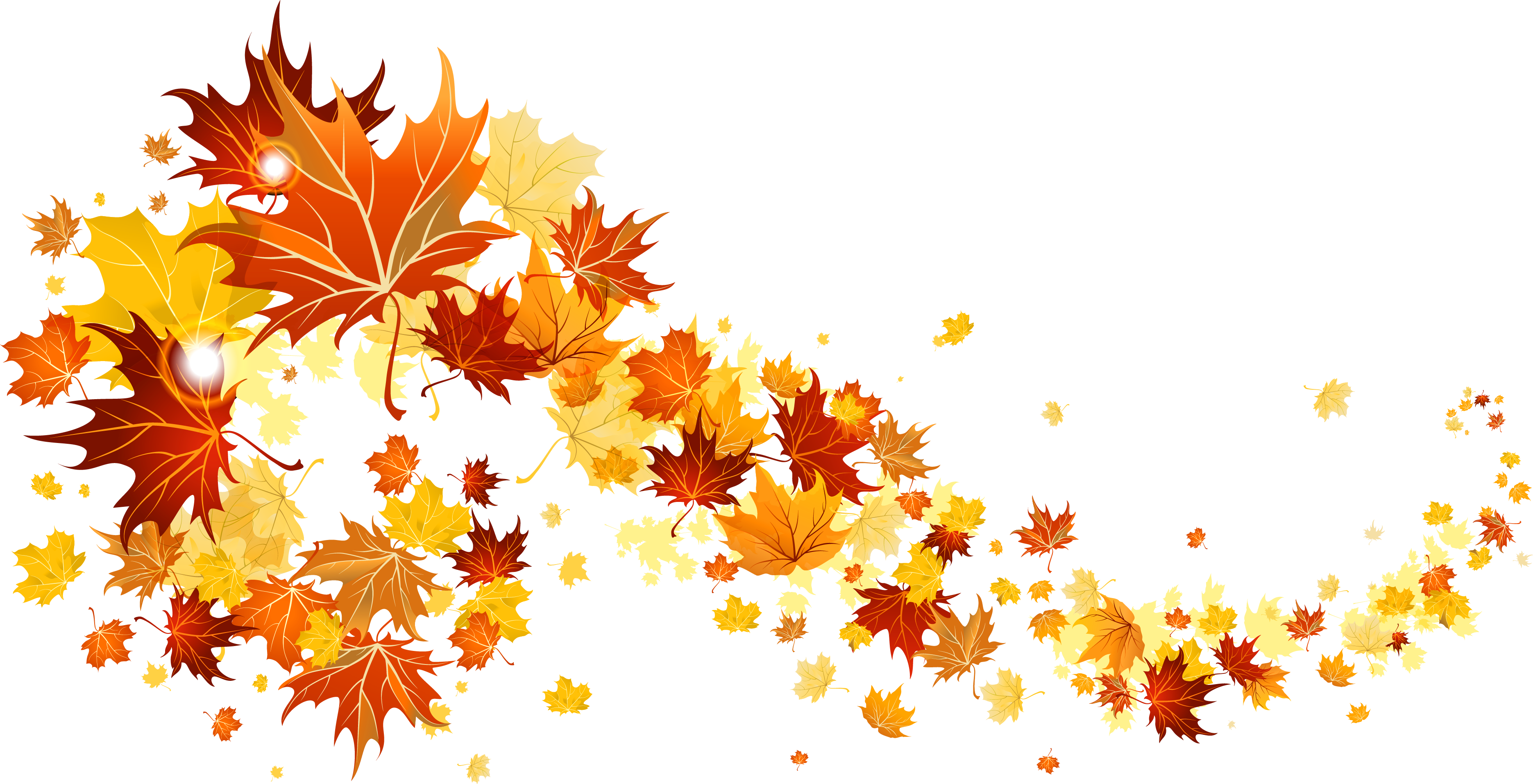 Tree with falling leaves clipart png royalty free library Fall Leaves Transparent Picture | Gallery Yopriceville - High ... png royalty free library