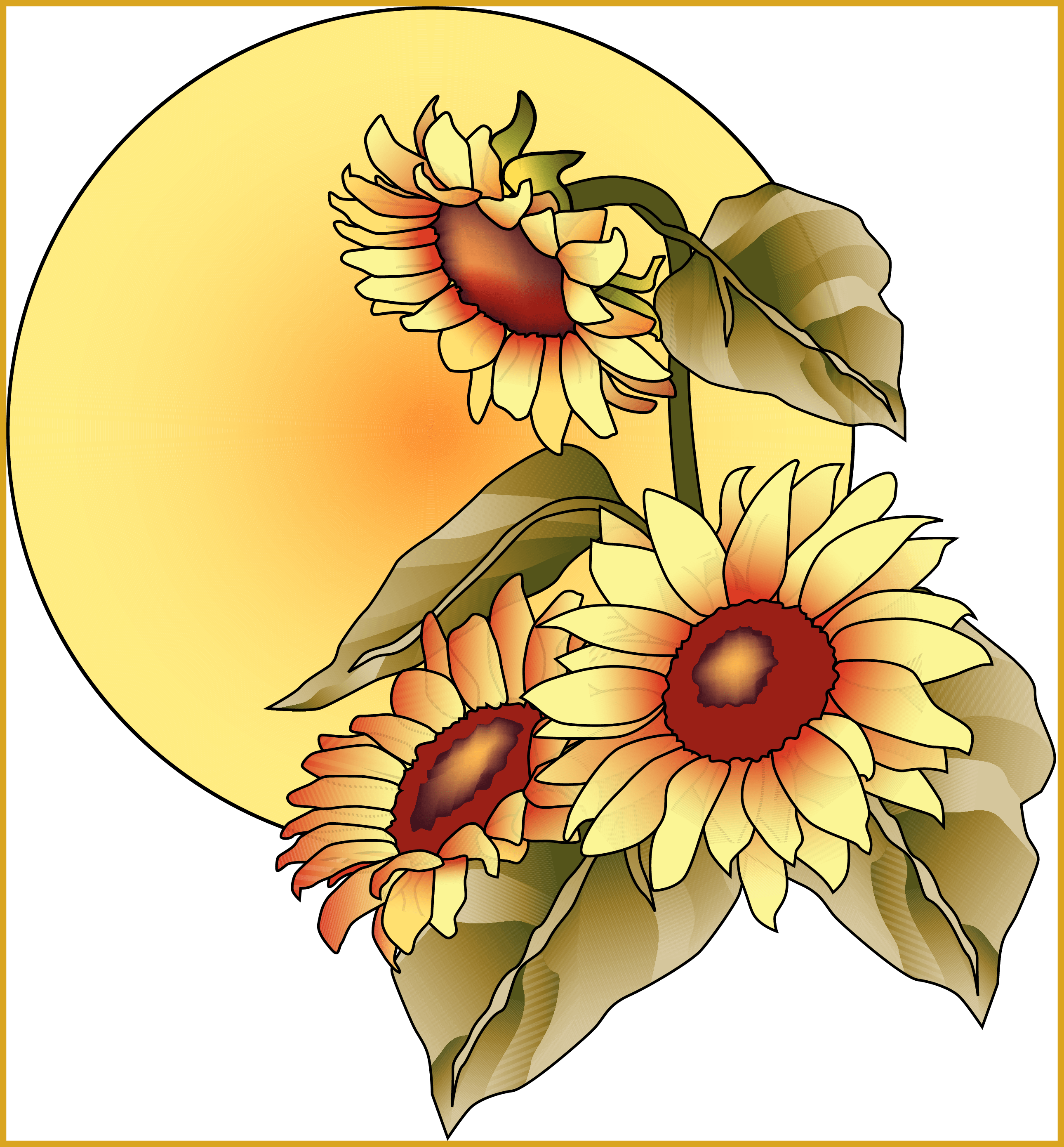 Fall sun clipart clip transparent Incredible Top Fall Clip Art Clipart Image Pic Of Sunflower Png ... clip transparent