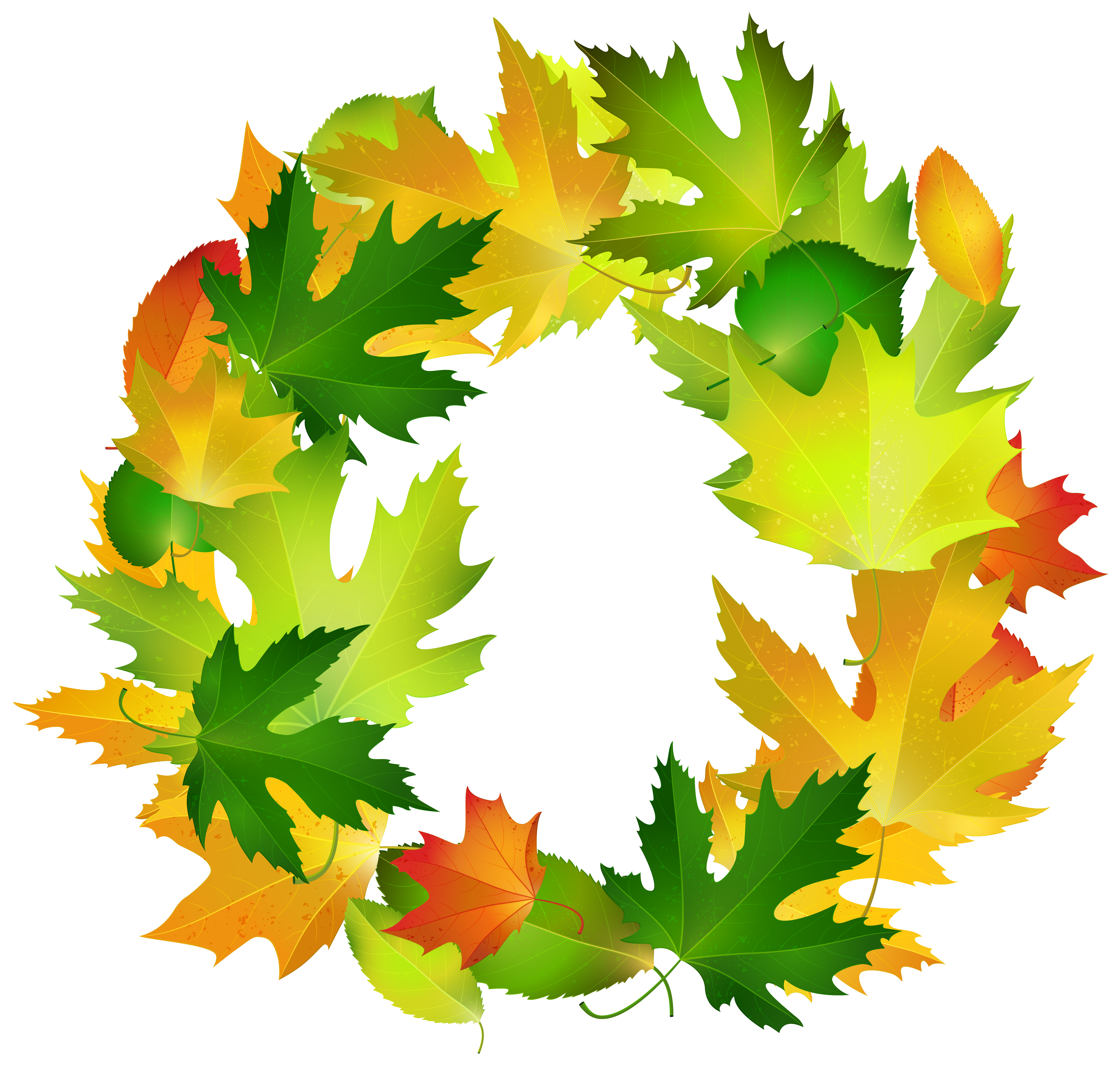 Fall tree border clipart picture royalty free Leaf Border Oval Clip art - Fall Leaves Oval Border Frame PNG ... picture royalty free