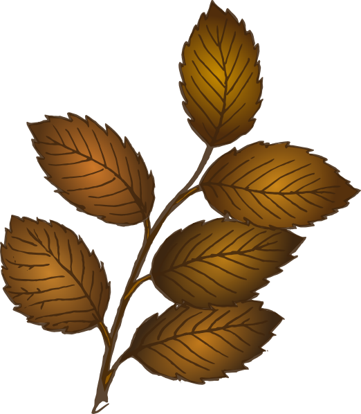 Leaves clip art at. Fall tree branch clipart