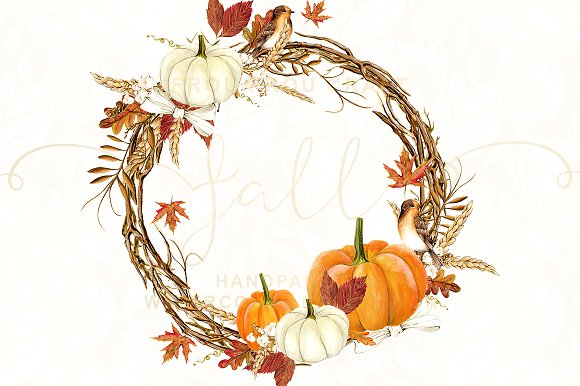 Fall watercolor clipart svg transparent Watercolor Fall Autumn Clipart svg transparent