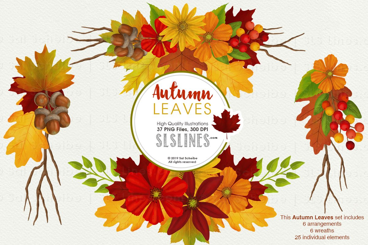 Fall watercolor clipart clipart transparent library Autumn Leaves Fall Foliage Watercolor Clipart clipart transparent library