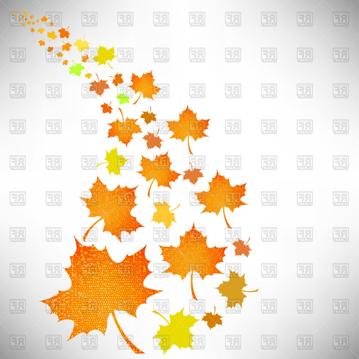 Falling autumn leaves clipart vector library library Falling Autumn Leaves Vector Clipart | SOIDERGI vector library library