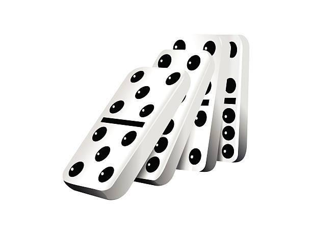Falling dominoes clipart