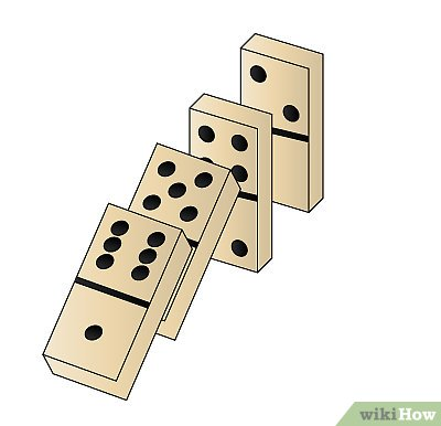 Falling dominoes clipart graphic black and white library How to Draw Dominoes: 7 Steps (with Pictures) - wikiHow graphic black and white library