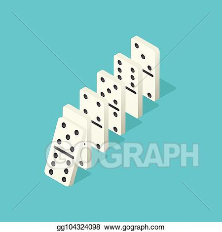 Falling dominoes clipart clipart royalty free download Vector Illustration - Falling dominoes. domino effect, chain ... clipart royalty free download